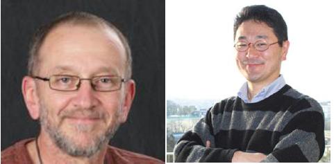 Figure 1 - Prof. Mario Ascoli (left) and Prof. Shosei Yoshida (right).
