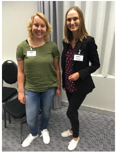 Figure 2 - The winners of the EAA travel grants: Ms. Manon Oud (left) and Ms. Ieva Masliukaite (right).