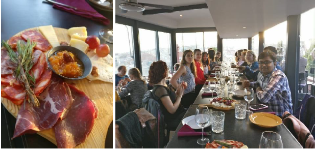 Figure 3 - A glimpse of the food and view at Madame Petisca